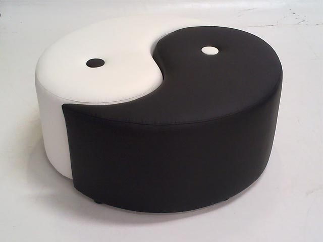 Ottomans furniture hire rentals inspire furniture for Yin yang couch