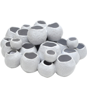 Barnacle Cluster Cup Vase White