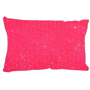 Beaded Cushion Cover Pink
