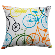 Bicycle Cushion Multicoloured
