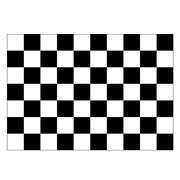 Black & White Checked Flag