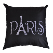 Black Paris Cushion