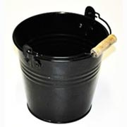 Black Tin Bucket Large Size