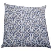 Blue & White Cotton Print Cushion