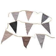 Bunting Animal Print & Gingham Brown
