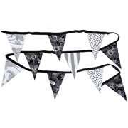 Bunting Black, White & Grey Mixed Patterns