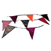 Bunting Lace Striped & Velvet
