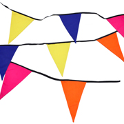 Bunting Pink, Yellow, Orange & Blue Plain