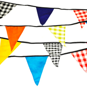 Bunting Strings Mic & Match Bright Patterns 6m