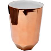 Ceramic Geometric Copper Vase Large