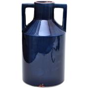 Ceramic Handled Vase Cobalt Blue Large