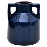 Ceramic Handled Vase Cobalt Blue Medium