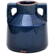 Ceramic Handled Vase Cobalt Blue Small