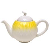Ceramic Teapot Yellow Fade
