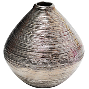 Ceramic Textured Bud Vase Silver