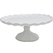 Ceramic Vintage Cake Stand White
