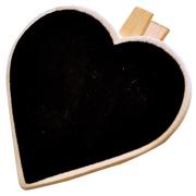 Chalkboard Heart Napkin Tag Large