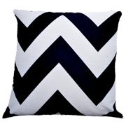 Chevron Cushion Black and White