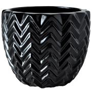 Chevron Vase Black