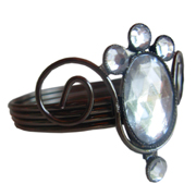 Classic Diamante Napkin Ring Style B