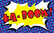 Comic Book Lycra Panel Ka-Boom
