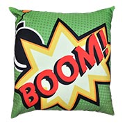 Comic Book Cushion Cover Boom