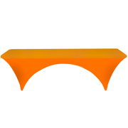 Conference Tablecloth Stretch Cover Bright Orange