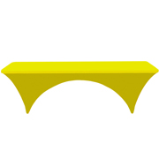 Conference Tablecloth Stretch Cover Neon Yellow