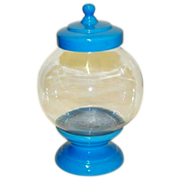 Cookie Jar Round Base and Lid Blue