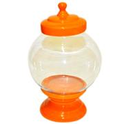Cookie Jar Round Base and Lid Orange