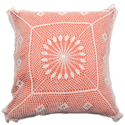 Coral and Crochet Cushion