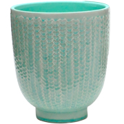 Crackle Pot Aqua Large