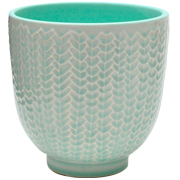 Crackle Pot Aqua Small