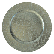 Crocodile Under Plate Silver