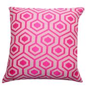 Cushion Cover Jacquard Honeycomb Bright Pink