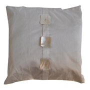 Cushion Cover with Shell Button Detail Cream