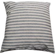 Denim and Stone Stripe Cushion