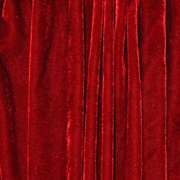 Draping Drops Bright Red Smooth Velour
