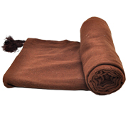 Fine Weave Chocolate Throw