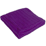 Fleece Throw Plum Stripe