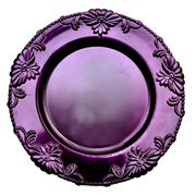 Floral Under Plate Purple