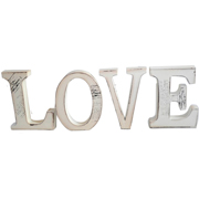 Free Standing LOVE Letters Cream