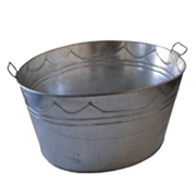 Galvanised Steel Oval Basin Large
