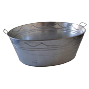 Galvanised Steel Oval Basin Small
