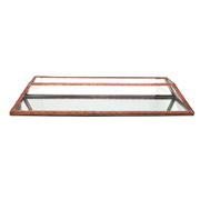 Glass and Copper Terranium Flat Rectangle