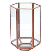 Glass and Copper Terranium Hexagon