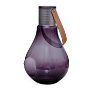 Glass Light Bulb Vase Grey