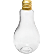 Glass Light Bulb Vase Clear Small