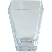 Glass Tapered Cube Vase