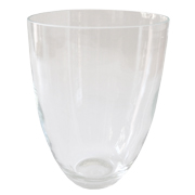 Glass Half Barrel Vase